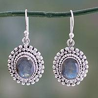 Labradorite dangle earrings,