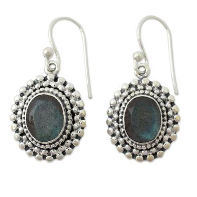 Artisan Crafted Labradorite and Sterling Dangle Earrings
