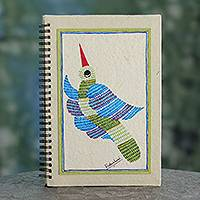 Journal, 'Freedom' - Bird Themed Handpainted Blank Journal from India