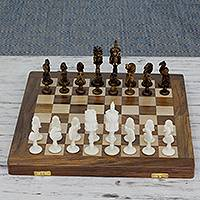 Wood chess set, Owls Challenge
