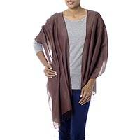 Silk and wool blend shawl,
