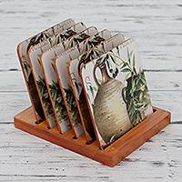 Decoupage coasters,