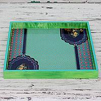 Decoupage tray,