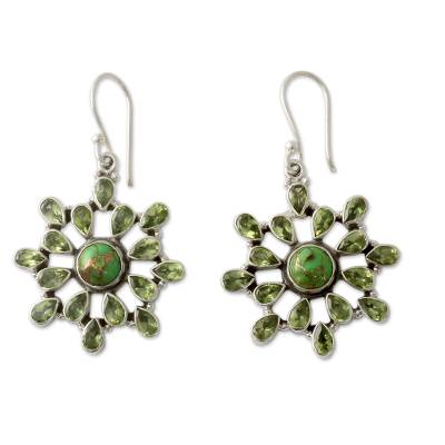 Handmade Earrings with Peridot and Sterling Silver