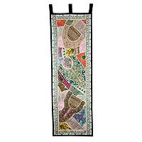 Cotton wall hanging, 'Gujarati Flair II' - Hand Crafted Gujarati Style Patchwork Cotton Wall Hanging