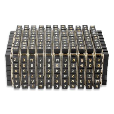 Eco Art Telephone Keys Upcycled as Handmade Decorative Box