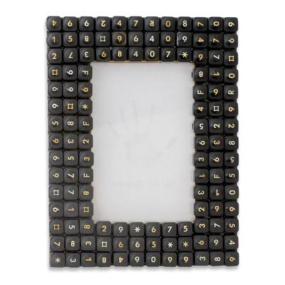 Computer Keys Upcycled as Handmade Photo Frame (4x6)