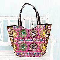 Embroidered shoulder bag, 'Glorious Gujarat' - Hand Crafted Multicolor Embroidery Shoulder Bag