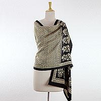 100% silk Bagh shawl,