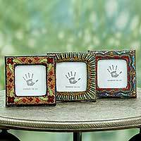 Embroidered photo frames,