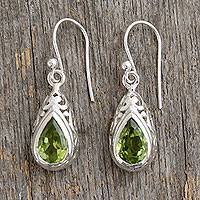 Peridot dangle earrings, Mughal Adoration
