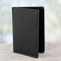 Leather card holder,