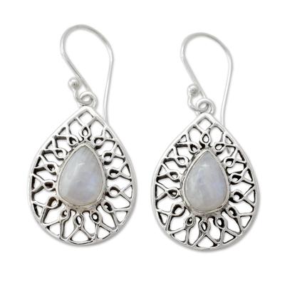 Artisan Jewelry Sterling Silver Rainbow Moonstone Earrings