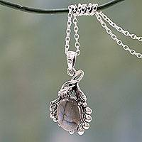 Labradorite pendant necklace, Quiet Allure