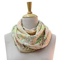 Polyester scarf, 'Flying Birds' - Multicolored Patterned Polyester Scarf for Women