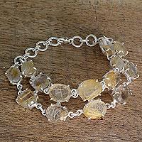 Rutile quartz tennis bracelet,
