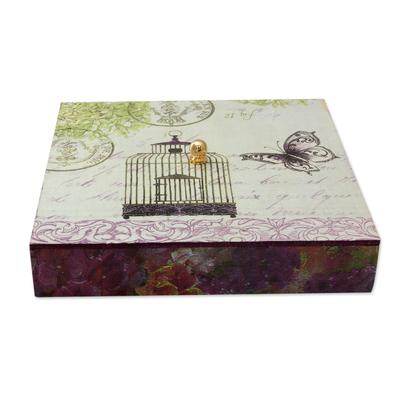 Butterfly Theme Decoupage Decorative Box