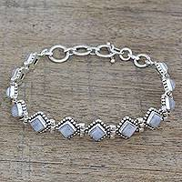 Rainbow moonstone tennis bracelet,
