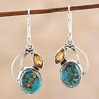 Featured review for Citrine dangle earrings, Modern Mystique