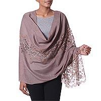 Wool blend shawl,