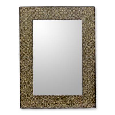 Decoupage Wall Mirror Frame Crafted by Hand in India