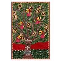 Featured review for Madhubani painting, Tree of Life II