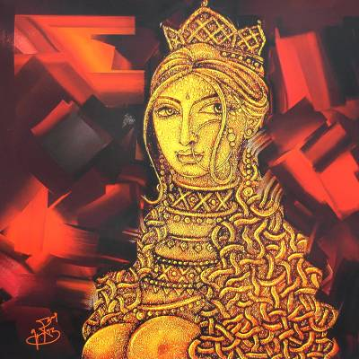 Fine Art Giclee Print on Canvas of Woman from India
