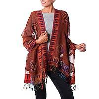 Featured review for Jamawar wool shawl, Tribal Earth