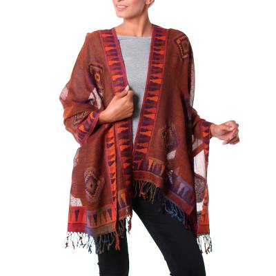 Jamawar wool shawl, Tribal Earth
