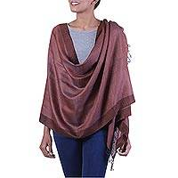 Silk and cotton blend shawl,