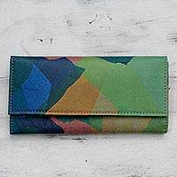 Upcycled wallet, 'Bhramaputra Style' - Multi Color Wallet Handmade with Upcycled Polythene Bags