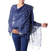 Jamdani cotton shawl,