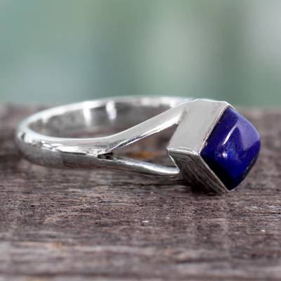 silver ring low price watches - Artisan Crafted India Unisex Silver Ring with Lapis Lazuli