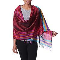 Varanasi silk shawl,