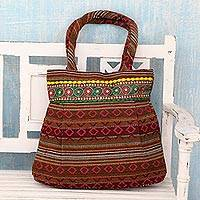 Cotton shoulder bag Sunset Flames India