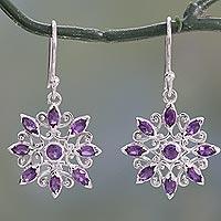Amethyst Dangle Earrings Star Gala In Purple (india)