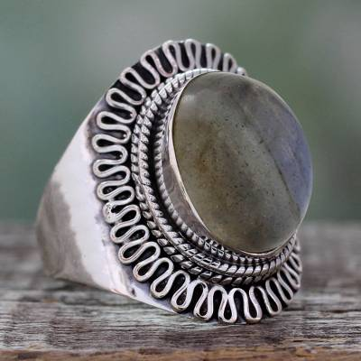 Labradorite cocktail ring, Regal Infinity