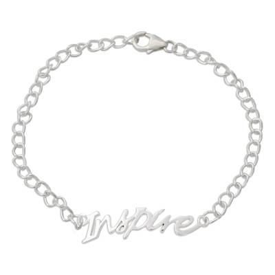 Sterling Silver 925 Bracelet with Inspire Pendant