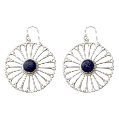 Indian Handmade Lapis Lazuli Dangle Earrings