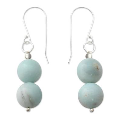 Hand Crafted Amazonite and Sterling Silver Dangle Earrings