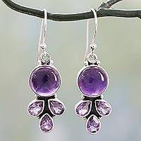 Featured review for Amethyst dangle earrings, Lilac Color