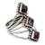 Amethyst cocktail ring, 'Purple Allure' - Amethyst and Reconstituted Turquoise Handmade Cocktail Ring (image 2b) thumbail