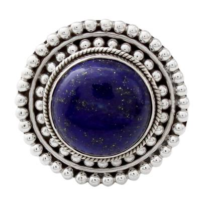 Artisan Crafted Lapis Lazuli and Sterling Silver Ring