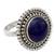 Lapis lazuli cocktail ring, 'Royal Sunset' - Artisan Crafted Lapis Lazuli and Sterling Silver Ring (image 2b) thumbail