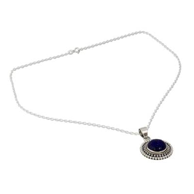 Artisan Crafted Lapis Lazuli and Sterling Silver Necklace