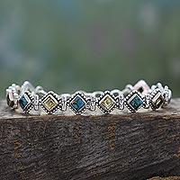 Citrine tennis bracelet,
