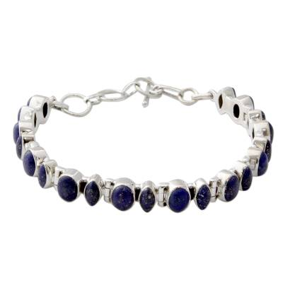 Hand Crafted Lapis Lazuli and Sterling Silver Bracelet