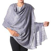 Cashmere shawl, 'Changthang Lavender' - Indian Handwoven Lavender 100% Cashmere Shawl