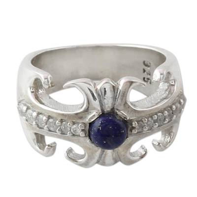 Hand Crafted Lapis Lazuli and Sterling Silver Cocktail Ring