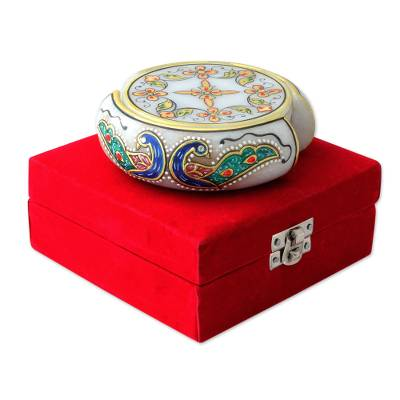 Hand Painted Makrana Marble Coasters (Set for 6)